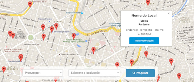 exemplo mapa da cidade | Portal Sem Choro
