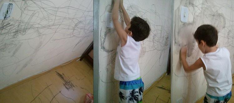 João pintando a parede | Portal Sem Choro