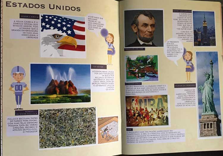 Álbum de Figurinhas - EUA | Pequenos Mochileiros | Portal Sem Choro
