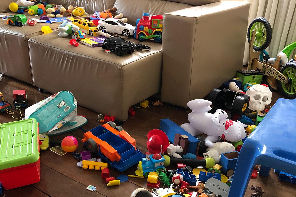 Muitos brinquedos Dicas de organização